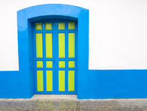 Colonial door in San Cristobal de las Casas, Chiapas, Mexico. Colorful colonial door in San Cristobal de las Casas, Chiapas, Mexico Stock Photography
