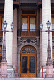 Colonial doors. Monument theater in guanjuato mexico Stock Photo