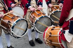 Colonial drummers Stock Photography