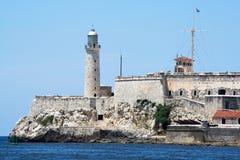 The. Colonial El Morro castle in  entrance of  bay of Havana Stock Photography