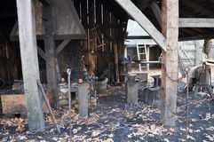 Colonial Era Blacksmith Shop Stock Photo