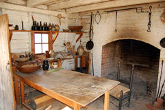 Colonial Era Kitchen. An image of a colonial era kitchen taken at Colonial Williamsburg in Williamsburg Virginia Royalty Free Stock Image