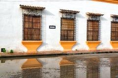 Colonial Facade and Reflection Royalty Free Stock Photos