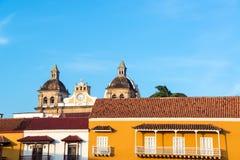 Colonial Facades and Church Royalty Free Stock Photos