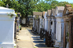 Colonial French cemetery in New Orleans. Royalty Free Stock Photos