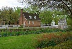 Colonial Gardens. In Williamsburg Virginia Stock Photography