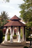 Colonial gazebo. Colonial weeding gazebo in a beautiful resort royalty free stock photo