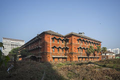 Colonial heritage building in Yangon Stock Photos
