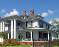 Colonial Home. A restored colonial home in the southern part of the United States Stock Photo