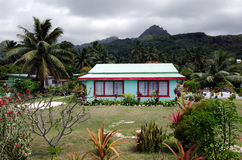 Colonial home in Rarotonga Cook Islands Royalty Free Stock Images