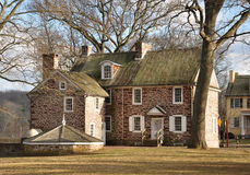 Colonial Home- Washington Crossing State Park, PA. This  is the Thompson-Neely House which was used as a military hospital at the time of the American Royalty Free Stock Images