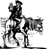 Colonial Horseman with Lamp Royalty Free Stock Images