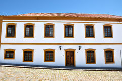 Colonial house. With Portuguese architecture style in a historical Brazilian town Stock Images