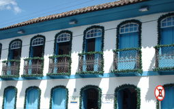 A colonial house. View of a typical colonial house in the city of Araxá, Brazil Stock Photos