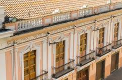 Colonial house facade Quito Ecuador South America Stock Photos