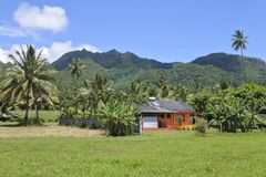 Colonial house in Rarotonga Cook Islands Stock Photography