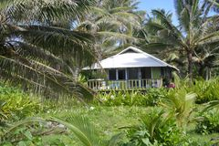 Colonial house in Rarotonga Cook Islands Stock Image