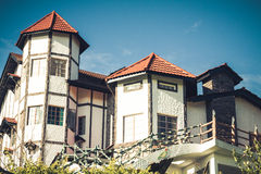 Colonial House on Top of Hill Royalty Free Stock Photo