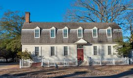 Colonial Era House, Williamsburg, VA royalty free stock photo