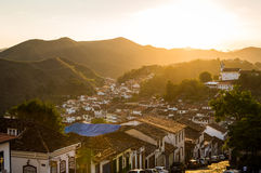 Colonial houses in Ouro Preto, Minas Gerais, Brazil Royalty Free Stock Image