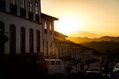 Colonial houses in Ouro Preto, Minas Gerais, Brazil Stock Image