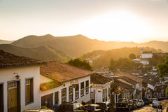 Colonial houses in Ouro Preto, Minas Gerais, Brazil Stock Photos