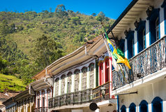 Colonial houses in Ouro Preto in Minas Gerais, Brazil Royalty Free Stock Photo