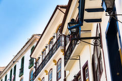 Colonial houses in Ouro Preto in Minas Gerais, Brazil Royalty Free Stock Images