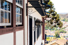 Colonial houses in Ouro Preto in Minas Gerais, Brazil Royalty Free Stock Image