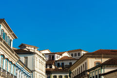 Colonial houses in Ouro Preto in Minas Gerais, Brazil Stock Images