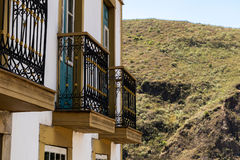 Colonial houses in Ouro Preto in Minas Gerais, Brazil Stock Image