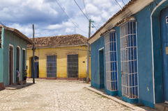 Colonial houses in Trinidad, Cuba. Trinidad, Cuba, was declared a UNESCO World Heritage site in 1988 royalty free stock photos