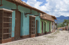 Colonial houses in Trinidad, Cuba. Trinidad, Cuba, was declared a UNESCO World Heritage site in 1988 royalty free stock photo