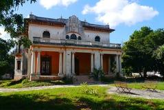 Colonial México da casa da arquitetura Imagens de Stock