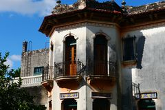 Colonial México da casa da arquitetura Foto de Stock Royalty Free
