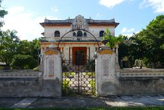 Colonial México da casa da arquitetura Fotografia de Stock Royalty Free