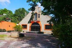 Colonial México da casa da arquitetura Imagem de Stock Royalty Free
