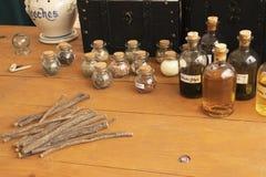 Colonial Medicines Indgredients stock photo