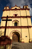 Colonial Mexican catholic church Royalty Free Stock Images