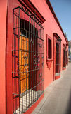 Colonial Mexico. Old house in Oaxaca, Mexico Royalty Free Stock Photo