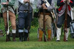 Colonial Militiamen Stock Photos