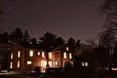 Colonial at night Royalty Free Stock Photo