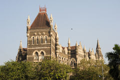 Colonial Oriental Building on famous square in Mumbai Stock Images