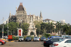 Colonial Oriental Building on famous square in Mumbai Royalty Free Stock Photo