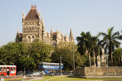 Colonial Oriental Building on famous square in Mumbai Royalty Free Stock Images