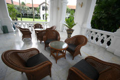 Colonial outdoor furniture Stock Photo