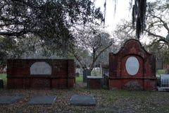 Colonial Park Cemetery. Located in historic Savannah, Georgia stock photos