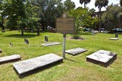 Colonial Park Cemetery in Savannah Royalty Free Stock Photos