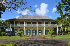 Colonial property. Mon plaisir - Colonial property in the Botanic Garden of Pamplemousses, Mauritius Royalty Free Stock Photo