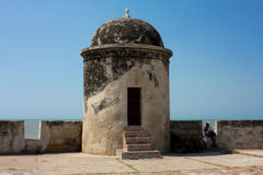 Colonial rampart of Cartagena de Indias. Colombia royalty free stock photo